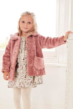 Buy Pink Faux Fur Jacket (3mths-6yrs) from the Next UK online shop