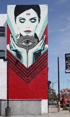 La Nouvelle fresque d'Obey sur Sunset Boulevard – Galerie Itinerrance The New Obey Fresco on Sunset Boulevard – Itinerrance Gallery 3d Street Art, Street Art Quotes, Best Street Art, Murals Street Art, Street Art Graffiti, Mural Art, Street Artists, Banksy, Pintura Graffiti