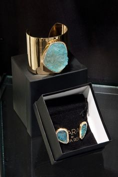 Kara Ross cuff and earrings available at Luminance Pop-Up.