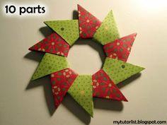 Origami Wreath Tutorial : Behind Mytutorlist.com