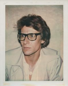 An Andy Warhol polaroid of Yves Saint Laurent from 1972