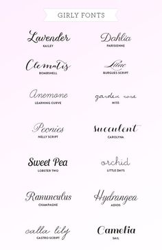 Favorite Girly Fonts by liliana