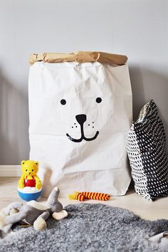 Bear Paper Storage Bag by TellKiddo on Etsy