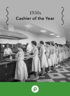 """This vintage photo was taken at our original corporate office in the 1950s during one of Publix's annual """"Cashier of the Year"""" recognition lunches."""