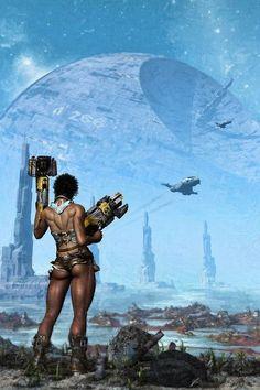 Cyberpunk Stunning Digital Art by Paul Francis photography Sci Fi Fantasy, Fantasy World, Cyberpunk, Pin Ups Vintage, Diesel Punk, Sci Fi Characters, Science Fiction Art, Pulp Art, Trolls
