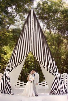 black and white wedding tent  via #coutureevents | Estate Weddings and Events www.estateweddingsandevents.com
