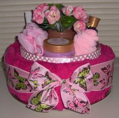 Pamper towel gift, roses are for the bath, so cute
