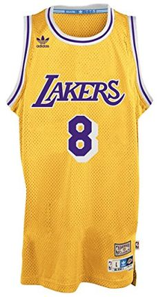 d1d1273d1 Kobe Bryant Los Angeles Lakers Gold NBA Hardwood Classics Adidas Throwback  Swingman Jersey.  basketball