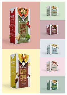 Redesign of Emmas soups and sauces. The product line consists of 2 soups and 6 different sauces. | by Bessermachen Design