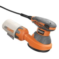 The RIDGID 5 in. Random Orbit Sander features an electronic speed control dial for maximum control for different applications. Best Random Orbital Sander, Ridgid Tools, Electronic Speed Control, Hand Sander, Must Have Tools, Thing 1, Professional Tools, Dust Collection, Power Tools