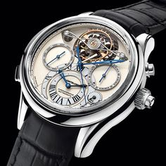 Montblanc Collection Villeret 1858 ExoTourbillon Rattrapante The highest art of watchmaking: The Innovative Tourbillon with Additive Stopping (See more at http://watchmobile7.com/articles/montblanc-collection-villeret-1858-exotourbillon-rattrapante-0) #watches #montblanc @montblanc
