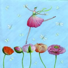What a good idea.  Jump from flower to flower.  Dreaming about lovely things.