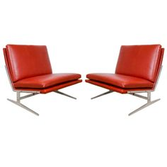 A Mid Century Pair of Fabricius and Kastholm chairs