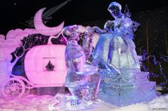 Disneyland Paris is the main source of inspiration for sculptors at this frosty fete, which kicked off last month and continues through January 15. The whole gang is here—Mickey, Pinocchio, Cinderella, the Little Mermaid, Snow White and the Seven Dwarves—all carved from a combined 700 tons of glistening snow and ice. >>