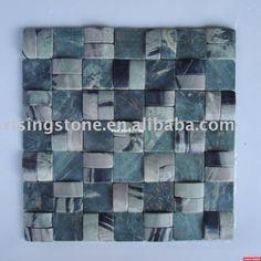 glass mosaic bathroom tiles | mosaic bathroom tile/wall stone mosaic/rustic slate flooring / China ...