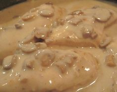 Crock Pot Bone-In Chicken Breast With Mushroom Gravy from Food.com: This is as easy as it gets. A few spices and into the crock pot it goes. Great for a work day dinner and will satisfy everyone in your family
