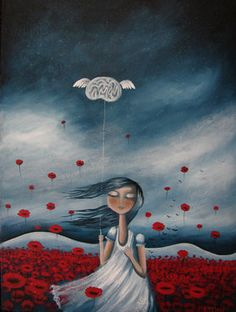 "Amanda Cass Art, ""My Mind May Wander But By Heart Stays In Place"