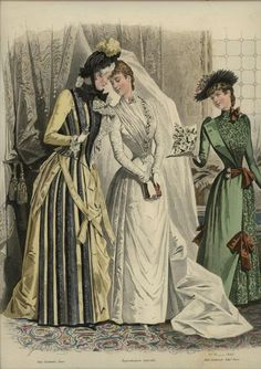 Revue de la Mode 1889, Wedding Gown