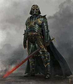 Star Wars is an American epic space opera franchise, created by George Lucas and centered around a film series that began with the eponymous Star Wars Poster, Star Wars Art, Fantasy Armor, Medieval Fantasy, Dark Fantasy, Space Fantasy, Dnd Characters, Fantasy Characters, Images Star Wars