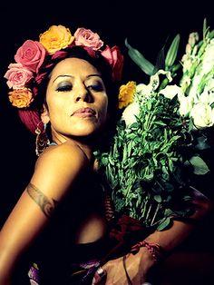 Lila Downs, cantante mexicana, y representante y tambien embajador internacional de la cultura de Oaxaca.