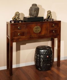 Elmwood Qing Console Table with 2 Drawers Console tables Consoles