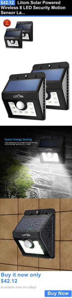 farm and garden: Litom Solar Powered Wireless 8 Led Security Motion Sensor Lamp Outdoor Light 2Pk BUY IT NOW ONLY: $42.12
