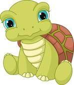 Cute Sitting Turtle