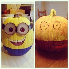 A minion pumpkin giggled to a #pinterestfail