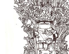 """Check out new work on my @Behance portfolio: """"Aliens on Iron Throne and other stories"""" http://be.net/gallery/37241349/Aliens-on-Iron-Throne-and-other-stories"""