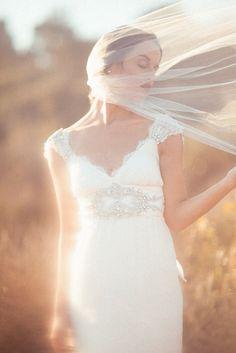 Three Nails Photography   Anna Campbell dress. Fabulous to pair with an A Given Splendor veil! https://www.facebook.com/AGivenSplendor