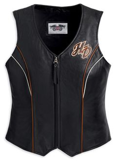 Harley Davidson Leather Vest - Women Riders Now - Motorcycling News & Reviews