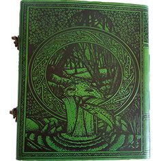 This unique journal has the tree of life on the cover with twisted trunk surrounded by celtic designs and hidden beings. The back has forest and stream pouring