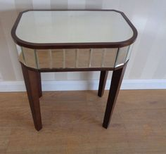 Stylish Laura Ashley Capri Mirrored Side Table, Current Shop Price, £210