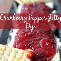 Recipe Submitted By:  Life with the Crust Cut Off Click on the link below for the Cranberry Pepper Jelly Dip Recipe!   Cranberry Pepper Jelly Dip