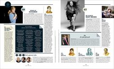 The Fierce List 2015 - Jamie Prokell Magazine Layout Design, Magazine Layouts, The Things They Carried, Publication Design, Layout Inspiration, Personal Branding, Editorial Design, Art Director, Infographics