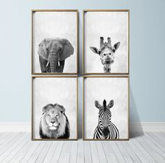 Safari Prints Safari Wall Art Nursery Safari Nursery Animals
