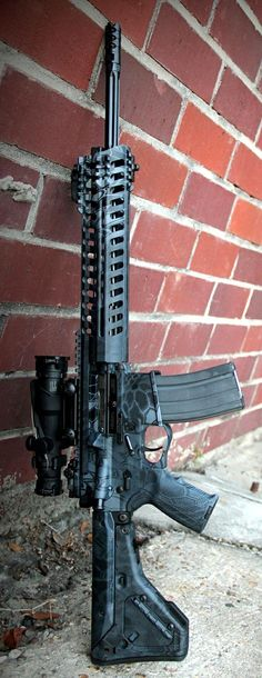 Custom AR w/ kryptk camo for the black ops lovers that don't actually know what real guns and camps look like ;-)