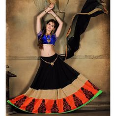 Rs.5670, Buy Online Georgette Multicolour Printed Semi Stitched Lehenga - Z23811 - Zuvera - Reviews - Indiarush
