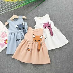 Animal Printed Toddler Girl Sleeveless Casual Summer Princess # Little Girl Dresses animal casual girl Princess Printed sleeveless summer Toddler Cute Flower Girl Dresses, Cute Little Girl Dresses, Girls Casual Dresses, Dresses Kids Girl, Kids Outfits, Dress Girl, Casual Outfits, Baby Dress Patterns, Clothes Patterns