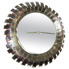1stdibs.com | Fabulous Signed Curtis Jere Eyelash Clock Mirror Mid-century Modern