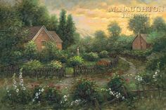 Whispering Softly by Jon McNaughton garden, path, landscape painting, art Nature Paintings, Landscape Paintings, Jon Mcnaughton, Beautiful Artwork, Beautiful Pictures, Painting Lessons, Painting Art, Cottage Art, Pictures To Paint