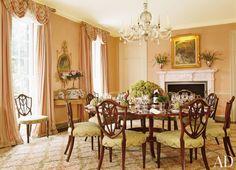 Dining room | Mario Buatta via Architectural Digest