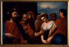 "Alessandro Varotari-Il Padovanino; 1588-1648. ""Christus und die Ehebrecherin"""