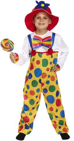 aae3c39c559 Boys Clown Comic Relief Children in Need Funny Fancy Dress Costume Outfit  4-12yr