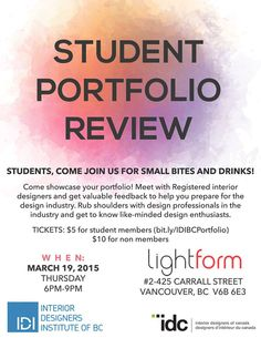 Calling All Interior Design Students This Event Is A Great Opportunity For To Show Their Work