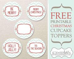 pixiedustcrafts:    Collection of free holiday printables including cupcake toppers, scrapbook paper and more.  http://www.pixelstixgraphics.com/freebies.html