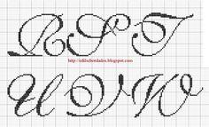 Saffron Lettering 4 of 5  cross stitch alphabet
