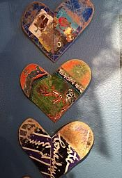 VINTAGE UP-CYCLED HEARTS MADE OUT OF BROKEN SKATEBOARDS