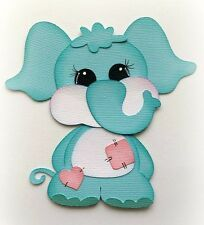 Paper Elephant, Paper Animals, Paper Die Cuts, Baby Buddies Blue Elephant, Premade Paper Piecing Animal By My Tear Bear Kira Paper Bag Scrapbook, Baby Scrapbook, Baby Cards, Kids Cards, Foam Crafts, Paper Crafts, How To Make A Paper Bag, Paper Animals, Paper Piecing Patterns