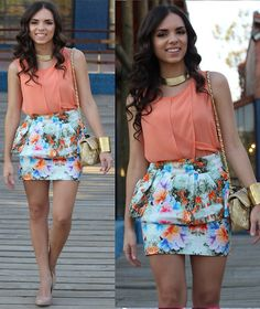 Blog, Zara Top, Zara Skirt, Pop Of Chic Necklace, Mimi Boutique Bag, Steve Madden Shoes, Furor Moda Cuff Bracelet